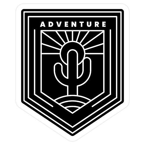 Cool Sticker For Cars, Trucks, Water Bottle, Fridge, Laptops Black and white adventure badge Stickers (3 Pcs/Pack)