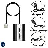 Bluetooth USB AUX Musik Adapter mit Freisprecheinrichtung inkl. Mikrofon + Kabelfernbedienung für Mazda 2, 3, 5, 6, 323, 626, Demio, Premacy, RX8, MX-5