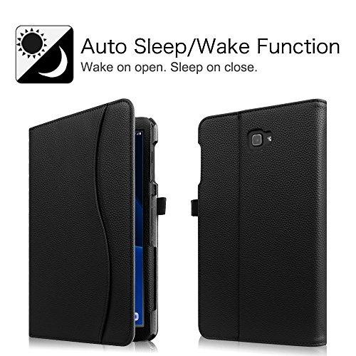 Fintie Hülle für Samsung Galaxy Tab A 10,1 Zoll T580N / T585N 2016 Tablet - Multi-Winkel Betrachtung Schutzhülle Cover Case mit Dokumentschlitze, Standfunktion, Auto Wake/Sleep Funktion, Schwarz