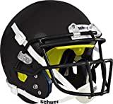 Schutt Sports Youth AiR Standard V Football Helmet with Carbon Steel ROPO-SW-YF Facemask, Small, Black Helmet, Black Facemask