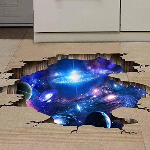 Decoracion de muebles, BaZhaHei, Etiqueta engomada del piso/pared del puente 3D Calcomanías de murales removibles Arte de vinilo Decoraciones de salas de estar de Etiqueta de la pared del hogar 3D