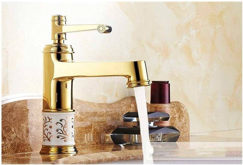 CHAOYU Faucet Wasserhahn Heier und kalter Hahn der europischen Art, Badezimmerwannenhahn (Farbe   Gold)