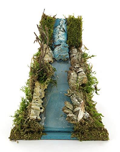 Schnelle-Fluss Beleuchtung Bühne für Krippe 26x 16x 18cm Krippenzubehör