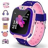 Winnes Reloj Inteligente para Niños, Niña La Musica y 7 Juegos Smart Watch Phone, 2 Vías Llamada Despertador de Cámara para Reloj Niño y Niña 3-12 años (Rosa)