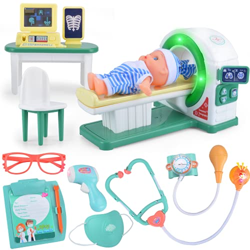 ZornRC Doctor Kit for Kids, Kids Doctor Kit with Toy Stethoscope and Medical Tools, Pretend Play Doctor Set for Kids Doctor Gifts Educational Medical Doctor Toys for Kids Role Play