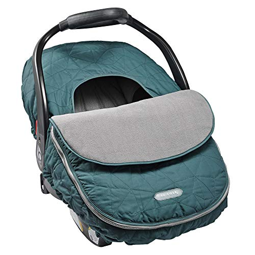 JJ Cole Car Seat Cover, Teal Fractal