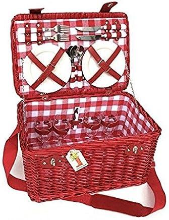 Klassischer Klassischer Klassischer Picknickkorb roja- berrie- für 4 Personen B06ZZWX4Y2   Qualität Produkte  e7f5cd