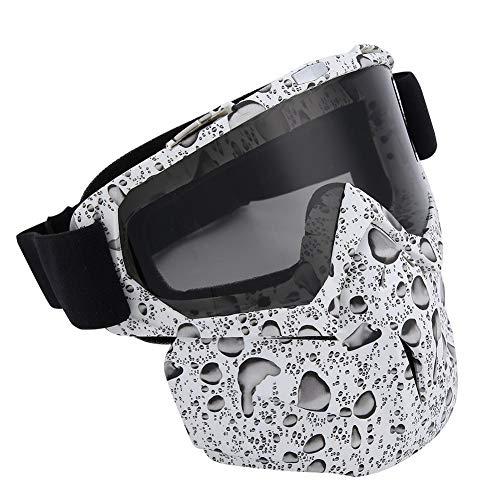 Alomejor Gesichtsschutzbrillen Schneemobil Motorrad Schutzbrillen Windschutz und Ultravioletter Schutz für Wintersport(#5)
