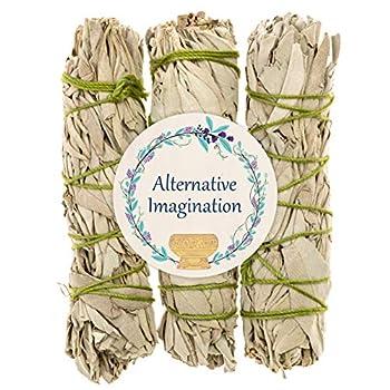 Alternative Imagination California White Sage Bundles for Smudging and Meditation – Purifying Smudge Sticks for Cleansing House of Negative Energy – Slow Burning Spirit Sticks  3 Pack