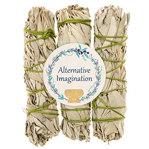Alternative Imagination California White Sage Bundles for Smudging and Meditation – Purifying Smudge Sticks for Cleansing House of Negative Energy – Slow Burning Spirit Sticks (3 Pack)