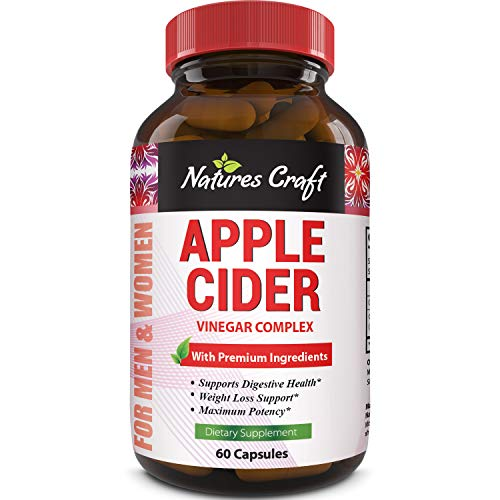 Natures Craft Apple Cider Vinegar Pills – For Weight Loss ACV Capsules Extra Strength Fat Burner Natural Supplement Pure Detox Cleanse Appetite Suppressant Immune Booster – for Women and Men 60 caps 3