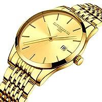 QTMIAO 美しいontheedge時計 超薄型メンズクォーツメンズ腕時計カレンダー腕時計腕時計 (Color : 2)