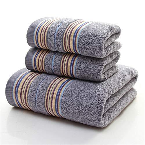 CHSDN Toallas de baño de Toalla de Gimnasia, 3 Piezas de Conjuntos de Toallas de algodón Puro, Toallas de baño súper absorbentes para baños para Adultos, Toallas de Cara para el hogar