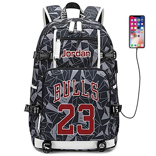 Lorh s store Jugador de Baloncesto Estrella Michael Jordan Mochila multifunción Estudiante de Viaje Mochila para fanáticos para Hombres Mujeres (Estilo 7)