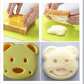 2 moldes de repostería para hacer tostadas de sándwich, galletas y galletas, herramienta de