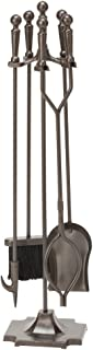 Uniflame, F-1634, 5pc Bronze Fireset with Ball Handles and Pedestal Base