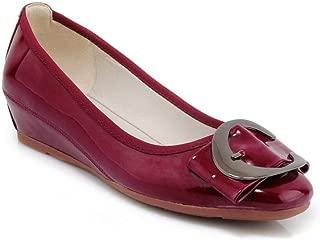 BalaMasa Womens Toggle Casual Travel Urethane Pumps Shoes APL10871
