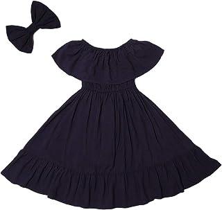 Girls Sleeveless Casual Floral Ruffle Maxi Dress Kids Summer Long Beach Sundress