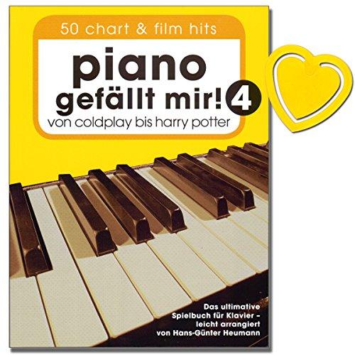 Piano gefällt mir! Band 4-50 Chart und Film Hits - von Coldplay bis Harry Potter - das ultimative Spielbuch für Klavier von Hans-Günter Heumann (mit bunter herzförmiger Notenklammer)