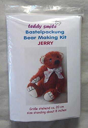 teddy smile - Bastelpackung Jerry für die Traditionelle Fertigung Eines Teddy - Bären; 20 cm