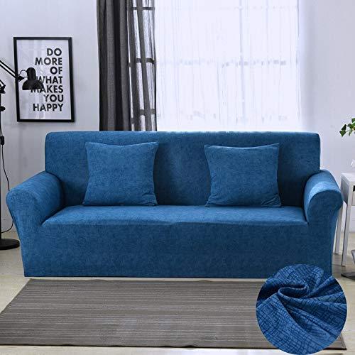 WXQY Funda de sofá elástica Funda de sofá elástica Silla Funda de sofá en Forma de L, Todo Incluido Funda de sofá de Esquina sillón sofá Toalla A9 1 Plaza