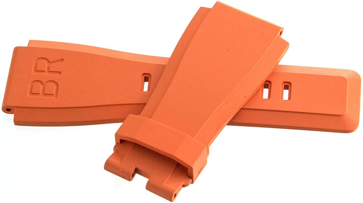 Max 53% OFF Original Bell Ross 24mm x Rubber Replacement Max 78% OFF Strap Orange