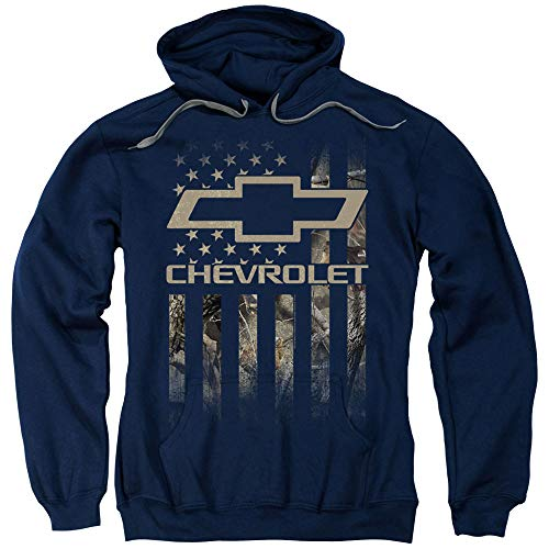 Chevrolet Camo Flag Unisex Adult Pull-Over Hoodie for Men and Women, X-Large