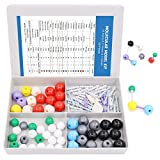 Swpeet 92 Pcs Chemistry Molecular Model Student and Teacher Set, Molecular Model Set for Inorganic & Organic Chemistry - 52 Atoms & 37 Bonds & 3 Orbitals