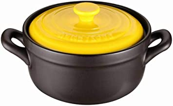Clay Casserole Pot Terracotta Stew Pot - Fully Release Nutrition, Upgrade Delicious, Healthy And Durable-yellow_capacity_...