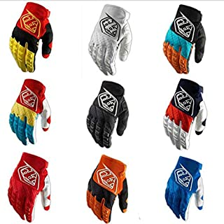 Homme Motorcycle Gloves, Hot Weatherproof Anti-Skid Red Motorcycle Gloves, Large Motorcycle Gloves Men for Cross-Country Motorcycle Motorcycle Equipment (Color : Blue White, Size : XL)