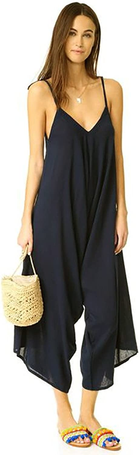 9Seed Bali V Neck Crop Jumpsuit Slouchy Cover Up in Black