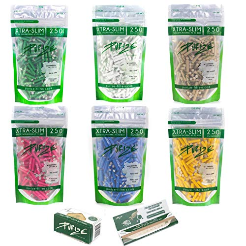 PURIZE® XTRA Slim Size Aktivkohlefilter SET (250er Spezial Set) (organic)
