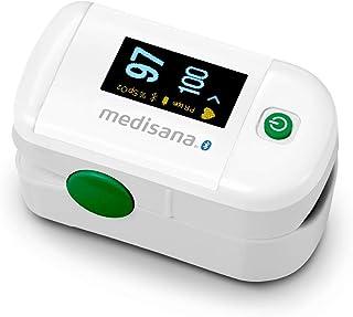 medisana PM 100 sluit de pulsoximeter,de meting van de zuurstofverzadiging in het bloed,de vingerpulsoximeter met OLED-dis...