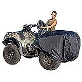 XYZCTEM Waterproof ATV Cover, Heavy Duty Black Protects 4 Wheeler from Snow Rain...
