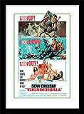 Pyramid International - Stampa con Cornice, Locandina Film Agente 007 - Operazione Tuono, per Appassionati di James Bond, 32 x 44 cm