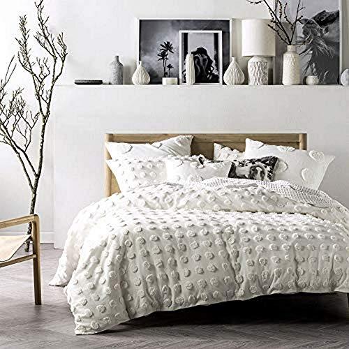 Linen House Haze Duvet Cover Set, White, King