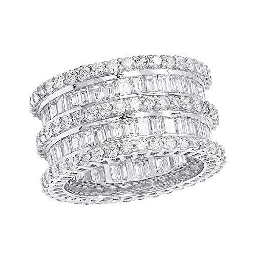 Anillo de compromiso de diamante natural de corte redondo de 1 quilate en oro rosa de 18 quilates.