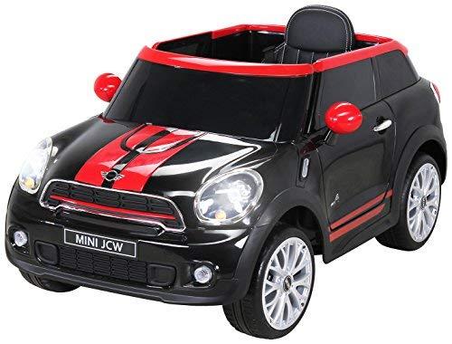 Actionbikes Motors Kinder Elektro Auto Mini Cooper Paceman John Cooper Works Kinderauto Elektroauto Lizenziert 2 x 45 Watt Motor (Schwarz)*