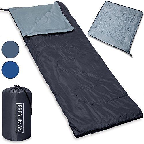 Monzana Schlafsack Freshman Sommerschlafsack -6C bis 11°C Mumienschlafsack 210x75 cm Deckenschlafsack dunkelblau