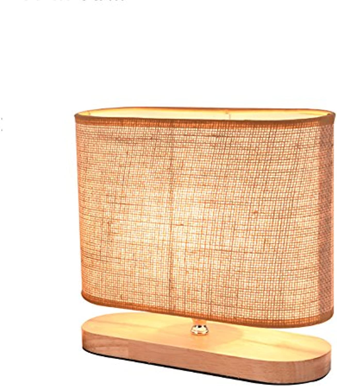 Tischlampe Nordeuropa Woody Hotel Schlafzimmer Wohnzimmer Nachttisch Coffee Shop Dekoration Tuch Abdeckung Tischlampe LED 40W 220V E27