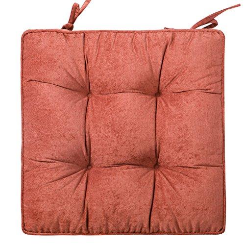 YXDDG zitkussen voor stoel, geschikt voor kantoor, keuken, tuin, reizen, vliegtuig, auto, zwart 42x42cm(17x17inch) Pompoen