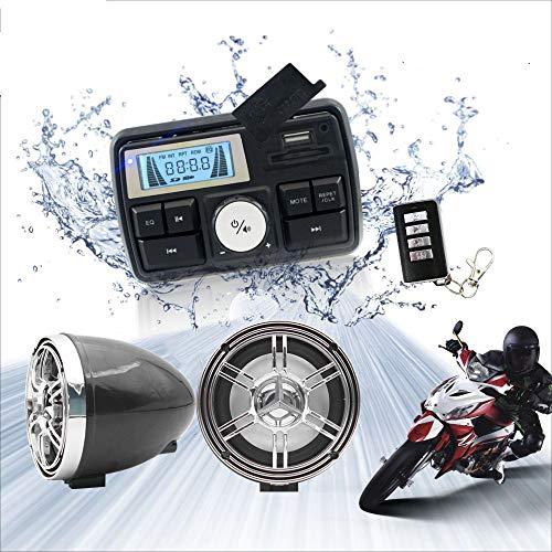 Review Of 12V Radio 3 inch Motorcycle ATV UTV Golf Cart Waterproof Anti-Theft Bluetooth Speaker USB ...
