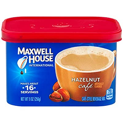 Maxwell House International Hazelnut Café Instant Coffee (9 oz Canister)