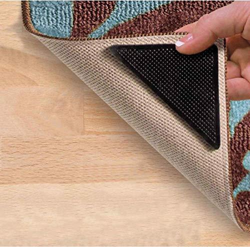 Zmdmg 4 stücke Teppich Matte Selbstklebende Teppich Ecke Clip Fuß Pad Silikon rutschfeste Aufkleber Bad-Accessoires