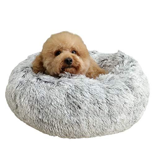 Docatgo Cama Perro Gato Grande Pequeño Cama Mascota Redonda Felpa Sofa Suave Cachorro Animales Domésticos Invierno, Cómoda y Lavable, 60CM