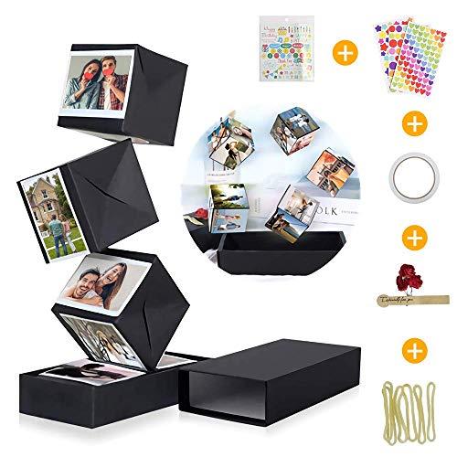 KIPIDA Caja Sorpresa Explosion Box, Creative DIY Álbum de Fotos Libro de Recuerdos Caja de Regalo Álbum de Fotos Hecho a Mano Caja Regalo de Cumpleaños, Día de la Madre, Aniversario para Niña, Novio