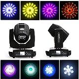 YUNRUX - Juego de 2 focos con 17 patrones de cabeza de YUNRUX, 230 W, luz de discoteca 7R, lámpara de DJ, estroboscópica, lámpara LED, PAR, iluminación de escenarios