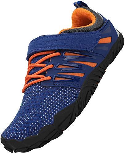 SAGUARO Niña Barefoot Zapatos Niños Antideslizante Zapatillas de Trail Running Minimalistas Zapatillas Deportes Acuáticos Secado Rápido Correr Nadar, Azul 29