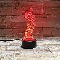 3Dイリュージョンナイトライト 映画の役割 スマートタッチ キッズ3D目の錯覚7色LEDナイトライトボーイキッズおもちゃベビースリープデスクランプ寝室の装飾誕生日クリスマスクリエイティビティギフト