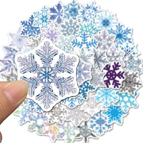 TUHAO Set Snow Cartoon Decorations Sticker For Skateboards Laptop Luggage Guitar Refrigerator Motorcycle Phone Case Kids /50Pcs/